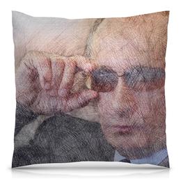 """Подушка 40х40 с полной запечаткой """"Путин-Арт"""" - россия, путин, президент, putin, ввп"""
