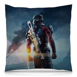 """Подушка 40х40 с полной запечаткой """"Mass Effect"""" - компьютерные игры, mass effect, n7, масс эффект, геймерские"""