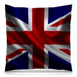"Подушка 40х40 с полной запечаткой ""Британский Флаг"" - англия, флаг, британия, gb"