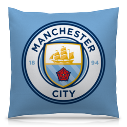 "Подушка 40х40 с полной запечаткой ""Manchester city"" - футбол, manchester, mc, манчестер сити"