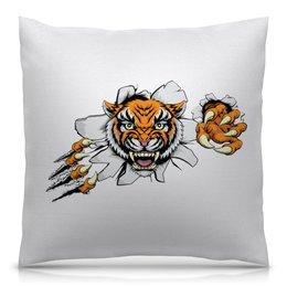 """Подушка 40х40 с полной запечаткой """"Зверь"""" - хищник, животные, тигр, зверь, тигры"""