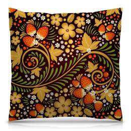 """Подушка 40х40 с полной запечаткой """"Ягоды"""" - цветы, узор, лес, ягоды, клубника"""