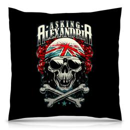 "Подушка 40х40 с полной запечаткой ""Asking Alexandria"" - музыка, рок, группы, asking alexandria, аскинг александриа"