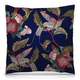 """Подушка 40х40 с полной запечаткой """"Природа"""" - цветы, птица, весна, природа, птички"""