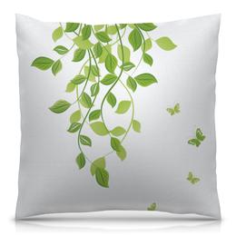 """Подушка 40х40 с полной запечаткой """"Лето. Summer"""" - бабочки, лето, листья, дизайн, графика"""
