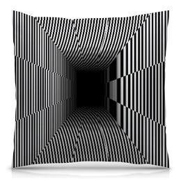 """Подушка 40х40 с полной запечаткой """"Иллюзия"""" - иллюзия, пропасть, невидимое, видимое"""
