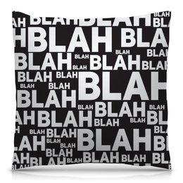 """Подушка 40х40 с полной запечаткой """"Чепуха"""" - английский, буквы, надписи, чушь, чепуха"""