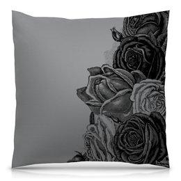 """Подушка 40х40 с полной запечаткой """"Букет роз"""" - цветы, роза, розы, букет, шипы"""