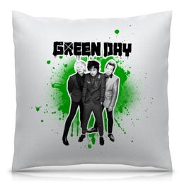 """Подушка 40х40 с полной запечаткой """"Green Day"""" - green day, грин дэй, группы, панк, рок"""