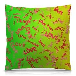 """Подушка 40х40 с полной запечаткой """"Любовь"""" - сердце, узор, надписи, день влюбленных, любовь"""