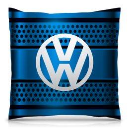 """Подушка 40х40 с полной запечаткой """"Volkswagen"""" - авто, автомобили, машины, volkswagen, фольксваген"""