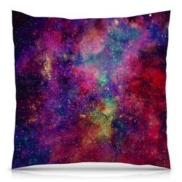 """Подушка 40х40 с полной запечаткой """"Космос"""" - stars, galaxy, космический дизайн, вселенные, space design"""