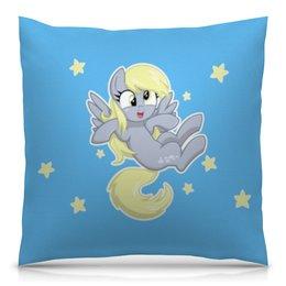 """Подушка 40х40 с полной запечаткой """"My little pony (Derpy)"""" - для детей, мультфильм, derpy, мой маленький пони, my little pony"""