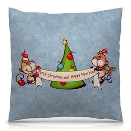 """Подушка 40х40 с полной запечаткой """"Новый год"""" - праздник, новый год, подарок, с новым годом, елка"""