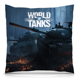 "Подушка 40х40 с полной запечаткой ""World of Tanks"" - игры, world of tanks, танки, wot"