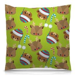 """Подушка 40х40 с полной запечаткой """"Мишки"""" - конфеты, новый год, мишка, олень, медведи"""