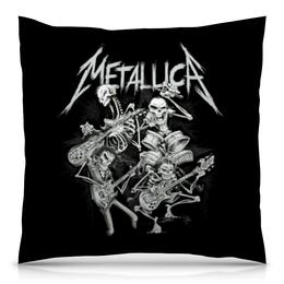 """Подушка 40х40 с полной запечаткой """"Metallica"""" - metallica, металлика, метал, рок, группы"""