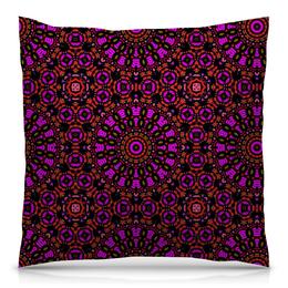 """Подушка 40х40 с полной запечаткой """"purple"""" - арт, узор, фиолетовый, абстракция, фигуры"""