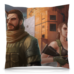 "Подушка 40х40 с полной запечаткой ""Metal Gear Solid"" - metal gear solid"