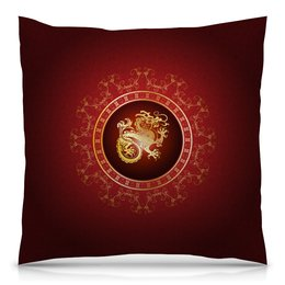 "Подушка 40х40 с полной запечаткой ""Chinese Dragon"" - дракон, азия, dragon, зодиак, asia"