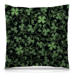 """Подушка 40х40 с полной запечаткой """"Клевер"""" - клевер, листья, зеленый, природа, листва"""