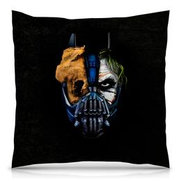 """Подушка 40х40 с полной запечаткой """"Джокер (Бэтмен)"""" - batman, джокер, бэтмен, mortal kombat, темный рыцарь"""