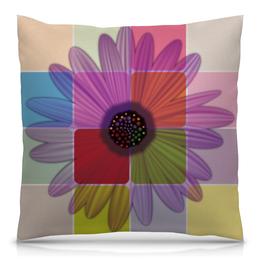 """Подушка 40х40 с полной запечаткой """"Гербера"""" - цветы, узор, рисунок, ромашка, цветочный"""