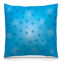 """Подушка 40х40 с полной запечаткой """"Снежинка"""" - праздник, новый год, зима, снег, снежинка"""