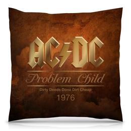"Подушка 40х40 с полной запечаткой ""AC/DC"" - music, rock, золото, хард-рок, асдс"