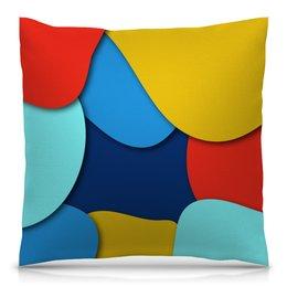 """Подушка 40х40 с полной запечаткой """"Разноцветная"""" - узор, стиль, рисунок, разноцветный, абстрактный"""