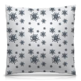 """Подушка 40х40 с полной запечаткой """"Снежинки"""" - новый год, зима, дом, снежинки, уютный"""