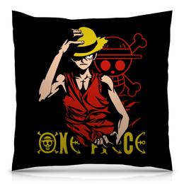 """Подушка 40х40 с полной запечаткой """"One Piece"""" - аниме, манга, ван пис, one piece, луффи соломенная шляпа"""