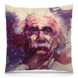 """Подушка 40х40 с полной запечаткой """"Альберт Эйнштейн"""" - альберт эйнштейн"""