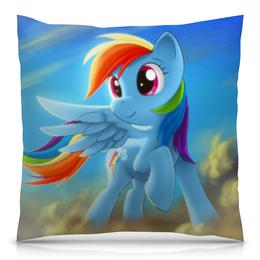 "Подушка 40х40 с полной запечаткой ""Радуга Дэш"" - rainbow dash, my little pony, friendship is magic, радуга дэш"