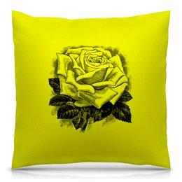 """Подушка 40х40 с полной запечаткой """"Цветок"""" - цветы, роза, розы, букет, шипы"""