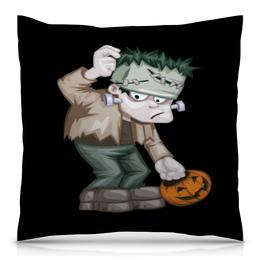 "Подушка 40х40 с полной запечаткой ""Чудовище Франкенштейна"" - хэллоуин, зомби, монстр, тыква, франкенштейн"