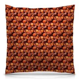 """Подушка 40х40 с полной запечаткой """"Дикая малина"""" - красный, ягоды, малина, сладкий, аромат"""