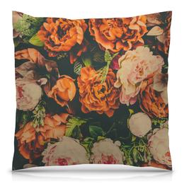 """Подушка 40х40 с полной запечаткой """"Пионы"""" - цветы, пионы, яркий, красивый"""