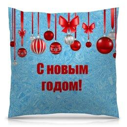 """Подушка 40х40 с полной запечаткой """"Новый год"""" - праздник, новый год, рождество, снежинки, christmas"""