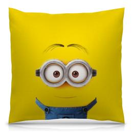 """Подушка 40х40 с полной запечаткой """"Миньон"""" - жёлтый, миньон, гадкий я, minion"""