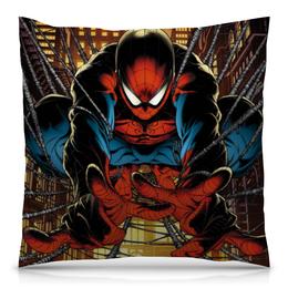 """Подушка 40х40 с полной запечаткой """"Человек-паук"""" - комиксы, супергерой, spider-man"""
