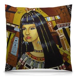 """Подушка 40х40 с полной запечаткой """"Клеопатра """" - рисунок, египет, клеопатра"""