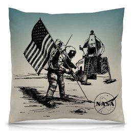 "Подушка 40х40 с полной запечаткой ""NASA | НАСА"" - космос, nasa, наука, астрономия, the spaceway"