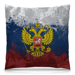 """Подушка 40х40 с полной запечаткой """"Россия"""" - патриот, герб, russia, флаг"""