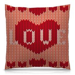 """Подушка 40х40 с полной запечаткой """"Любовь"""" - сердце, любовь, 8 марта, подарок, день св валентина"""
