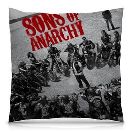 """Подушка 40х40 с полной запечаткой """"Сыны анархии / Sons of Anarchy"""" - рисунок, кино, сериал, сыны анархии"""