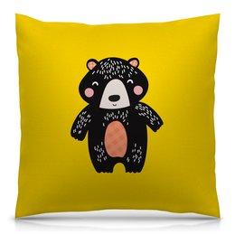 """Подушка 40х40 с полной запечаткой """"мишка"""" - животные, медведь, мишка, мульт, медвежонок"""