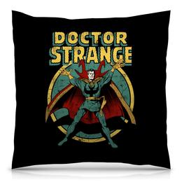 """Подушка 40х40 с полной запечаткой """"Доктор Стрэндж"""" - комиксы, супегерои, доктор стрэндж, doctor strange"""