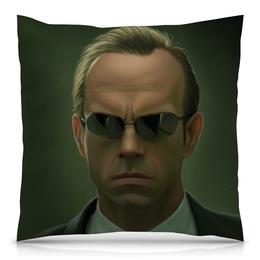 """Подушка 40х40 с полной запечаткой """"Агент Смит (Матрица)"""" - матрица, агент смит"""