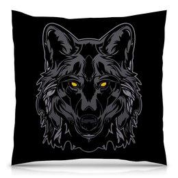 """Подушка 40х40 с полной запечаткой """"Волк (wolf)"""" - хищник, животное, волк, wolf"""